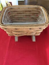 Longaberger Handwoven Cradle Basket And Protector! 1990