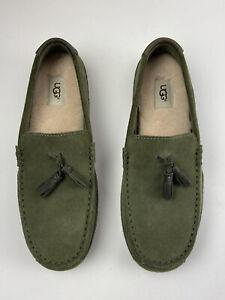 UGG Australia Suede Mens Size 10 Green Loafer Moccasins Slip On S/N1006164