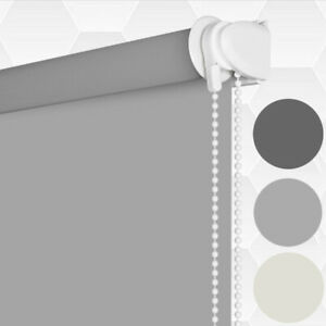 Blackout Window Roller Blinds Shades Thermal Insulated Fabric Blinds UV Protect