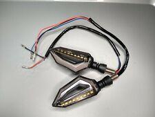 2x Motorcycle 18-Led Amber Turn Signal Indicator Lights 9Led Red Brake Lamp 12V