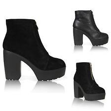 Women's Block High Heel (3-4.5 in.) 100% Leather Shoes
