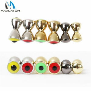 Maxcatch 25Pcs/lot Fly Tying Beads Brass Dumbbell With Eyes Fly Tying Material