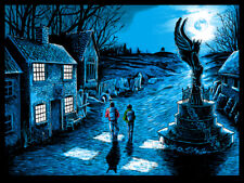STAY OFF THE MOORS AN AMERICAN WEREWOLF IN LONDON LTD EDITION PRINT BY TIM DOYLE