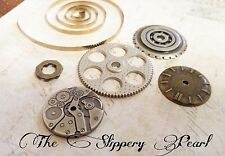 Steampunk Supplies Assorted Lot Charms Pendants Findings Gears Silver Bronze