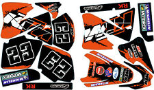 KTM Decals Graphics Custom Sticker Kit compatible with KTM EXC.Years 2001-2002