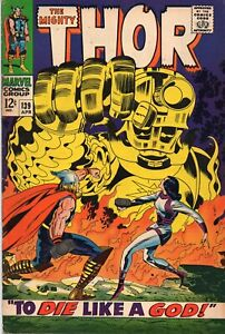 THE MIGHTY THOR #139 Silver Age Marvel Comics 1967 FN/VF