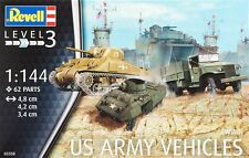 Revell 1/144 US Army Vehichles WWII Plastic Model Kit 03350 RVL03350