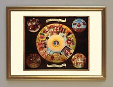 Hieronymus Bosch 7 peccati capitali invidia avarizia rabbia formosítà fac simili 1 nel quadro oro