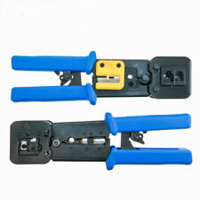 EZ-RJ45 Cat6 Crimp Tool +100 EZ Cat6 Connectors End pass through Ethernet pack