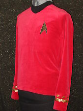 CUSTOM-MADE COSTUMES Red FIVE STAR trek clothes Uniform ANYSIZE Trek Shirt