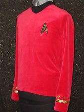 CUSTOM-MADE COSTUMES Red Five Star TREK clothes Uniform ANYSIZE Trek Shirt