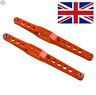 Spare Part Wltoys 12428 12423 12429 Red Alloy Upgrade Rear Axle Arms UK Seller.