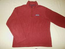 Vinevard Vines 1/4 Zip Long Sleeve Red Fleece Pullover Mens Medium Excellent