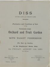 DISS : 1950 Orchard and Fruit Garden-sale particulars