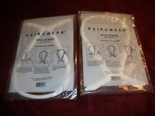 Lot of 2 Hairuwear Plastic White Wig Stand ~ New in Sealed Package ~ Lightweight