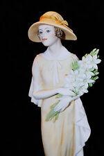 Italy Giuseppe Armani Florence Figurine Wedding Morn 1545C Lady Flower Heat Box