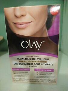 Olay Smooth Finish Facial Hair Removal Duo Medium to Coarse Hair Discontinued