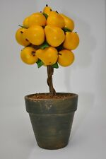 "Flora Bunda Artificial Potted Tabletop Pear Tree Decor 12 x 5"""