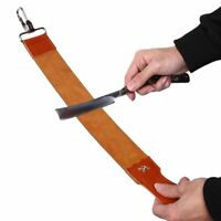 Barber Shaving Strop Leather Sharpener Strap Straight Razor Folding Knife Belt