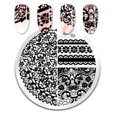 BORN PRETTY Nail Art Stamping Plates Chic Lace Image Stamp Template Tools