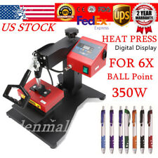 6 PCS Digital Pen Heat Press Machine f/ Ball-point Transfer Printing Sublimation