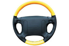 Perforated Custom 1 or 2 Color EuroPerf Leather Steering Wheel Cover for Jeep