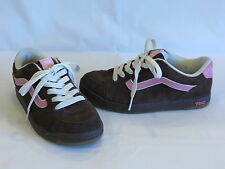 Vans Brown/Pink Suede Leather Flats/Sneakers/Athletics - 9M - GR8!