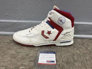 Julius Erving Autographed Converse Shoe Philadelphia 76ers PSA/DNA COA Dr. J