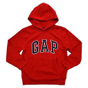 Gap Boys Hoodie Kids Pullover Sweatshirt Arch Logo Fleece Lined Pockets New Nwt