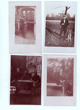 Lot 186: 4 AK PK  Fotokarten Männer ungelaufen vor 1945
