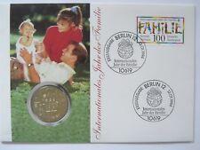 DDR Numisbrief 5 Mark 1975 Jahr der Frau Gedenkmünze Intern. Jahr der Familie