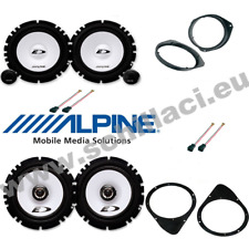 Kit 6 Speakers for FIAT 500 Alpine with adapters and spacer rings