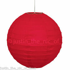 Paper Lantern Lamp Shade Decoration Unique Round Party Wedding 10 Inch Red