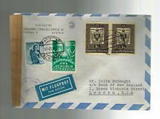 1950 Vienna Austria Censored Cover to England Bank of New Zealand w/ letter