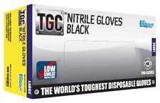 TGC Black Nitrile Gloves 100pk Black Large (160003)