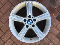 """BMW 3 SERIES F30 F31 4 SERIES F32 F33 17"""" STYLE 393 ALLOY WHEEL 6796242 OEM #1"""