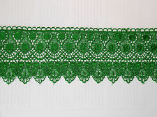 1m 11cm green embroidered guipure lace bridal wedding dress prom trim veil net