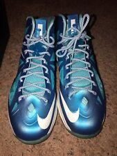 Nike LeBron 10 X+ Sport Pack Blue Diamond Shoes Size 11 with Original Box EUC!!!