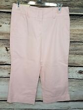 """NEW Steve & Barrys Womens Size 6 Classic Chino Capris Pink Favorite Fit 20"""""""