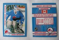 2015 SCA Mario Brunetta Quebec Nordiques goalie never issued produced #d/10