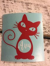 Custom Cat Lady Name Vinyl Decal for Stainless Tumblers, Coffee Travel Cups, Mug
