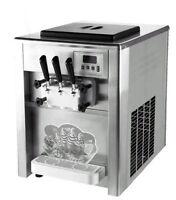 Commercial 18L/H 3 Flavor ice cream maker Soft ice cream making machine 220V