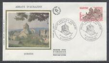 FRANCE FDC - 2001 1 EGLISE ABBATIALE AUBAZINE - 18 Fevrier 1978 - LUXE sur soie
