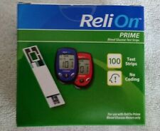 1 box of Relion Prime 100 glucose test strips; new! Total 100 strips exp. 12/21+