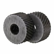 2PCS 1.5mm Pitch Diagonal Coarse 19mm OD Knurling Wheel Roller Tool Steel