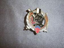 553B Insigne Badge 61 RA RGT Artillerie Drago H 200 Médaille Pucelle
