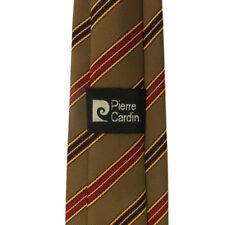 Pierre Cardin - Mens Tie - 3 inch - Modern Stripe Navy Red Bronze