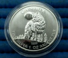 2011 Canada Wildlife Series Timber Wolf 1 oz 9999 Fine Silver C$5 Coin