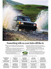 1997 Land Rover Discovery - kids like - Original Advertisement Car Print Ad J368