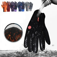 Men Women Waterproof Winter Touch Screen Fleece Lined Thermal Driving Ski Gloves